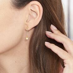 Boucles D'oreilles Pendantes Anne-maudae Pendantes Coeurs Or Jaune - Boucles d'oreilles Pendantes Femme | Marc Orian