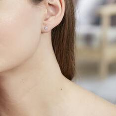 Boucles D'oreilles Puces Laena Argent Blanc Oxyde De Zirconium - Clous d'oreilles Femme | Marc Orian
