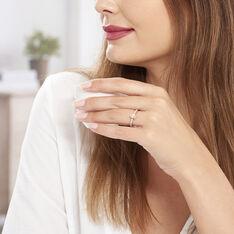 Bague Adelina Or Rose Morganite Et Oxyde De Zirconium - Bagues Femme   Marc Orian