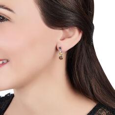 Boucles D'oreilles Pendantes Rosalie Argent Blanc Ambre - Boucles d'oreilles Pendantes Femme | Marc Orian