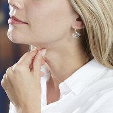Boucles D'oreilles Pendantes Raia Argent Blanc - Boucles d'oreilles Pendantes Femme   Marc Orian