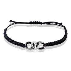 Bracelet Link Argent Blanc Oxyde De Zirconium Et Céramique - Bracelets cordons Femme | Marc Orian