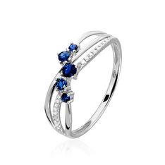 Bague Amarylis Or Blanc Saphir Diamant - Bagues Femme | Marc Orian