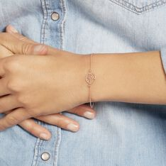 Bracelet Arbre De Vie Argent Rose - Bracelets chaînes Femme   Marc Orian