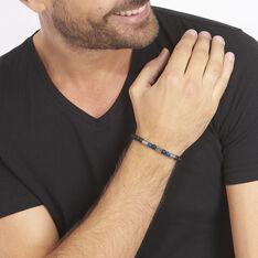 Bracelet Hugues Acier Blanc Agate Et Pierre De Synthese - Bracelets chaînes Homme | Marc Orian