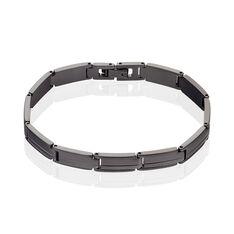 Bracelet Hippolyte Maille Fantaisie Acier Noir - Bracelets chaînes Homme   Marc Orian