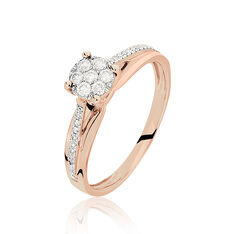 Bague Kate Or Rose Diamant - Parure de mariage Femme | Marc Orian