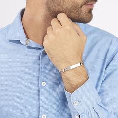 Bracelet Identité Vivian Maille Alternee 1/3 Argent Blanc - Gourmettes Homme | Marc Orian
