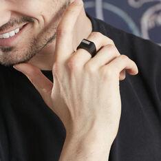 Chevalière Meghan Acier Noir Diamant - Chevalières Homme | Marc Orian