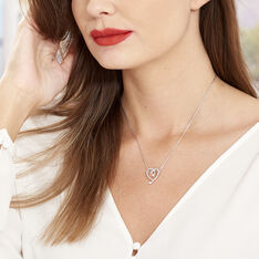 Collier Aria Argent Blanc Oxyde De Zirconium - Colliers Femme | Marc Orian