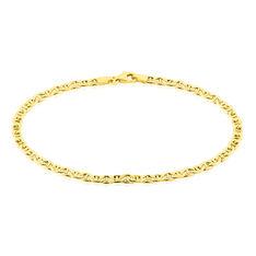 Bracelet Capucin Maille Marine Plate Or Jaune - Bracelets mailles Homme   Marc Orian