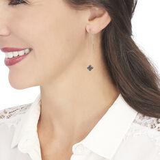 Boucles D'oreilles Pendantes Kathrine Argent Rose Oxyde De Zirconium - Boucles d'oreilles Pendantes Femme | Marc Orian