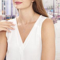 Collier Amy Argent Blanc Oxyde De Zirconium - Colliers Femme | Marc Orian