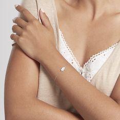 Bracelet Dorothea Argent Blanc Oxyde De Zirconium - Bracelets chaînes Femme | Marc Orian