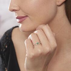 Bague Orlana Or Blanc Diamant Et Emeraude - Bagues Femme | Marc Orian