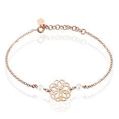 Bracelet Kaleidoscope Argent Rose Perle De Culture - Bracelets chaînes Femme | Marc Orian
