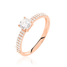 Solitaire Champs Elysees Or Rose Oxydes - Bagues Solitaire Femme | Marc Orian