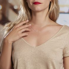 Collier Rayan Argent Blanc Oxyde De Zirconium - Colliers Femme   Marc Orian