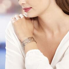 Bracelet Jonc Aelis Acier Blanc - Bracelets jonc Femme | Marc Orian