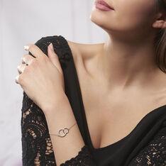 Bracelet Yalaz Argent Blanc Oxyde De Zirconium - Bracelets chaînes Femme   Marc Orian