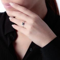 Bague Maura Or Blanc Saphir Diamant - Bagues Femme | Marc Orian