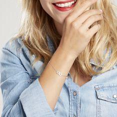 Bracelet Nella Argent Blanc Oxyde De Zirconium - Bracelets chaînes Femme | Marc Orian