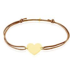 Bracelet Coeur Gravable Or Jaune - Bracelets cordons Femme | Marc Orian