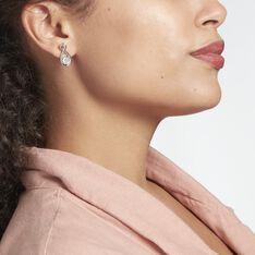 Boucles D'oreilles Pendantes Euphorbe Argent Rhodié Oxydes - Boucles d'oreilles Pendantes Femme | Marc Orian
