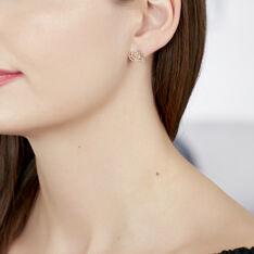Boucles D'oreilles Puces Abelie Plaque Or Jaune - Clous d'oreilles Femme | Marc Orian