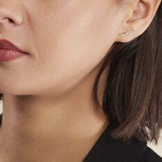 Boucles D'oreilles Puces Youssa Barrettes Or Jaune Oxyde De Zirconium - Clous d'oreilles Femme | Marc Orian