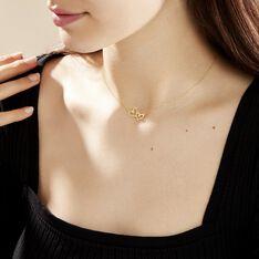 Collier Double Or Jaune Oxyde De Zirconium - Colliers Femme   Marc Orian