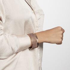 Bracelet Manchette Ouvert Acier Doré Carron - Bracelets manchettes Femme | Marc Orian