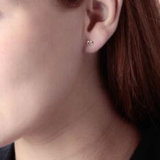 Boucles D'oreilles Or Jaune Puces Cœurs - Clous d'oreilles Femme | Marc Orian