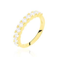 Demi-alliance Or Jaune Eloise Diamants - Alliances Femme | Marc Orian