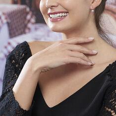 Boucles D'oreilles Pendantes Maximin Argent Blanc Oxyde De Zirconium - Boucles d'oreilles Pendantes Femme | Marc Orian