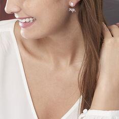 Bijoux D'oreilles Laurette Argent Blanc Oxyde De Zirconium - Boucles d'oreilles Ear cuffs Femme | Marc Orian