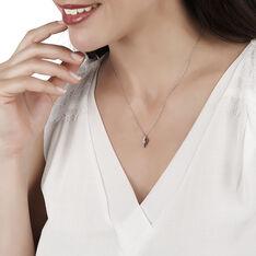 Collier Sculptural Or Blanc Diamant - Colliers Femme | Marc Orian