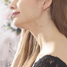 Créoles Olympia Flexible Argent Blanc - Boucles d'oreilles Créoles Femme | Marc Orian