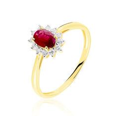Bague Vladimir Or Jaune Rubis Et Diamant - Bagues Femme   Marc Orian