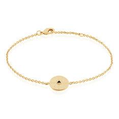 Bracelet Plaque Or Milia  Pierre Bleue - Bracelets chaînes Femme | Marc Orian