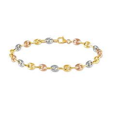 Bracelet Maille Dami Maille Grain De Cafe Or Tricolore - Bracelets mailles Femme | Marc Orian
