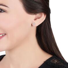 Boucles D'oreilles Puces Elais Etoile Or Jaune Oxyde De Zirconium - Clous d'oreilles Femme   Marc Orian