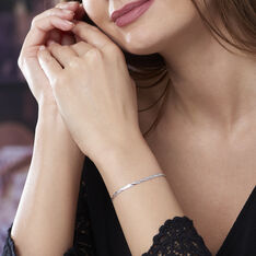 Bracelet Jasmin Tresse 3 Fils Or Blanc - Bracelets Femme | Marc Orian