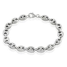 Bracelet Argent Blanc - Bracelets mailles Homme | Marc Orian