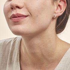 Boucles D'oreilles Puces Goccie Or Jaune Diamant - Clous d'oreilles Femme   Marc Orian