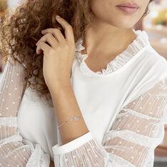 Bracelet Zelee Argent Blanc - Bracelets chaînes Femme | Marc Orian