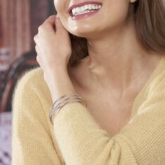Bracelet Jonc Hugoline Argent Blanc - Bracelets jonc Femme   Marc Orian