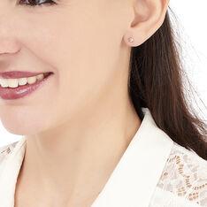 Boucles D'oreilles Or Rose Boule - Boucles d'oreilles Pendantes Femme | Marc Orian