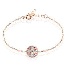 Bracelet Collin Argent Rose Oxyde De Zirconium - Bracelets chaînes Femme | Marc Orian