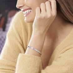 Bracelet Jonc Carinne Argent Blanc Oxyde De Zirconium - Bracelets jonc Femme   Marc Orian